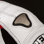 The shoulders feature a feature a new style of titanium-capped external guard.