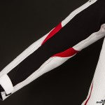Schoeller® Keprotec® stretch panels like those shown in this arm make for a suit that wears very comfortably.
