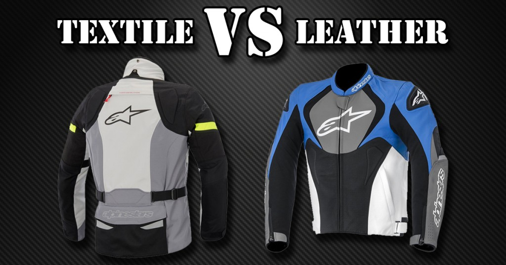 Products pictured are Alpinestars Bogota Drystar Textile Jacket and Alpinestars Jaws Perforated Leather Jacket.