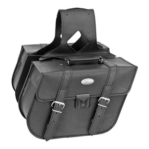 RIVER ROAD ZIP-OFF SLANT SADDLEBAGS WITH LOCK CLASSIC - Click Image to Purchase