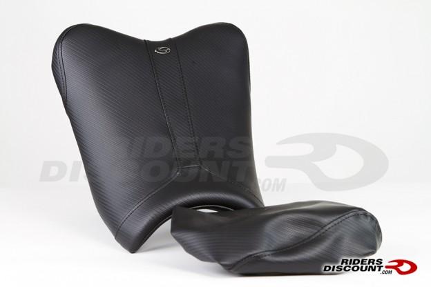Saddlemen Track-CF Low Solo Seat with Pillion Cover For Kawasaki Ninja 300 2013-2014