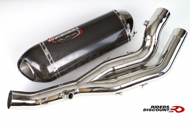 Yoshimura Alpha Race Exhaust Muffler with Midpipe Stainless/Carbon YZF-R1 2015 - Click Image to Purchase - MSRP $899.00