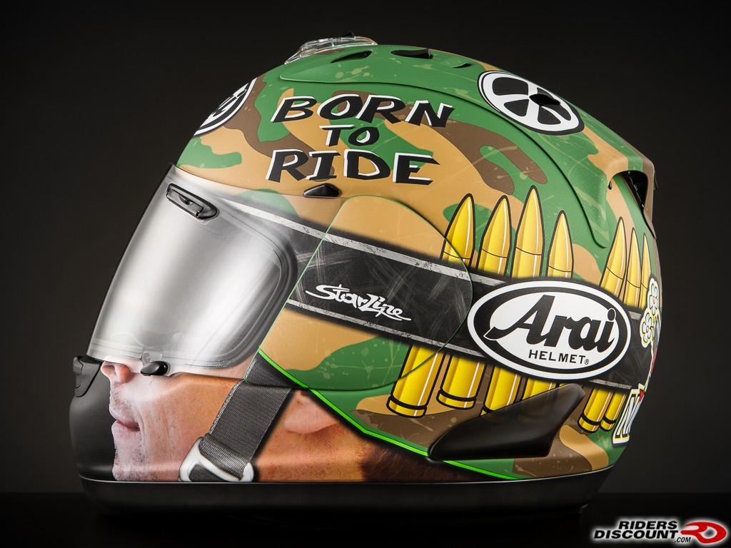 Arai Corsair-V Limited Edition Nicky GP Camo Full Face Helmet - Click Item to Purchase - MSRP $929.95
