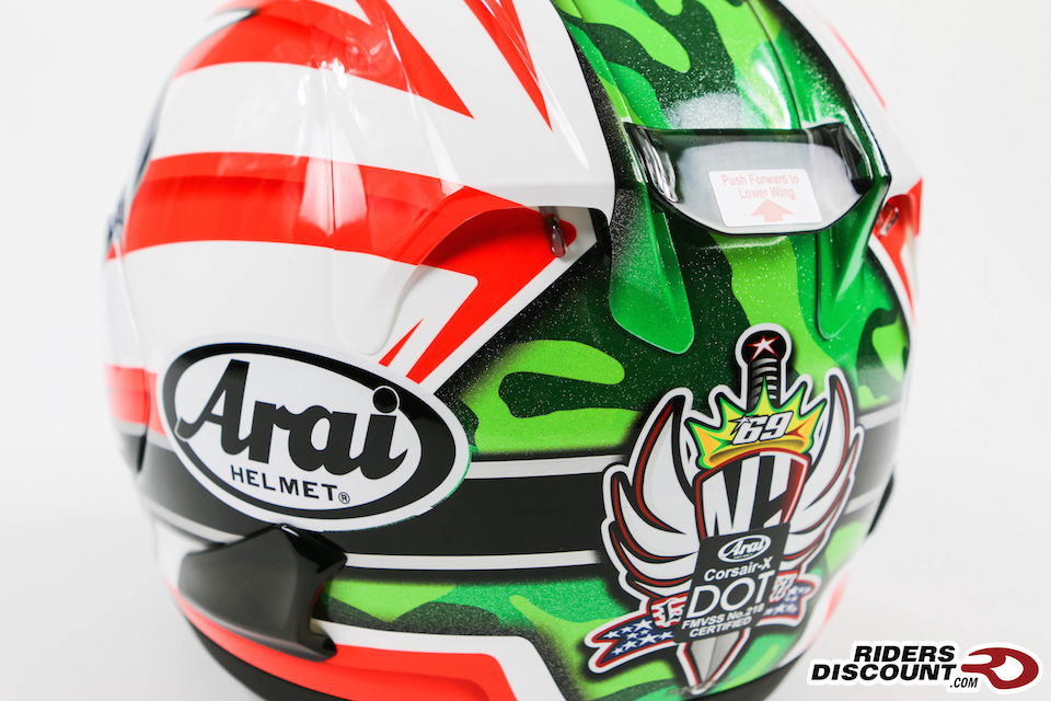 Arai Corsair-X Nicky-6 Replica Helmet - Click Image to Purchase