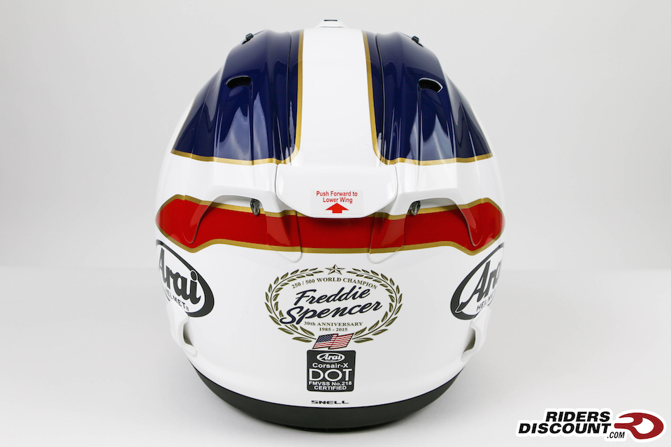 Arai Corsair-X Spencer 30th Anniversary Helmet - Click Image to Purchase