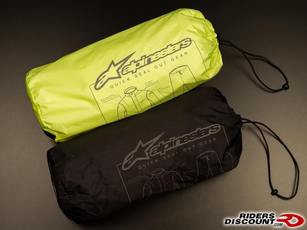 Alpinestars Quick Seal Out Two Piece Rainsuit Pouch - Click Image for More Information