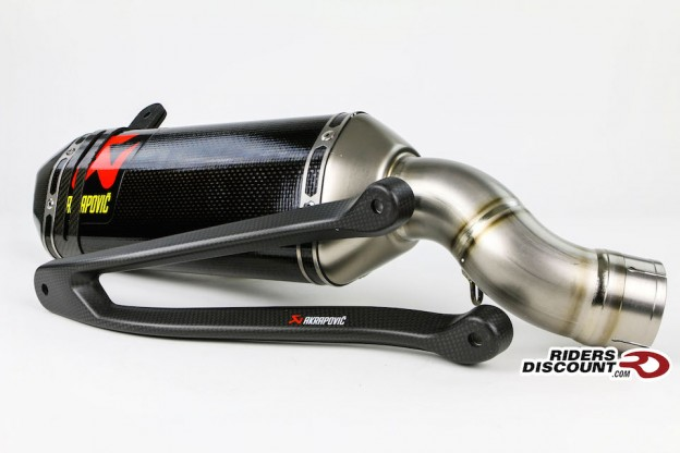Akrapovic Slip-On Carbon Exhaust & Bracket: Kawasaki Ninja ZX-10R 2016