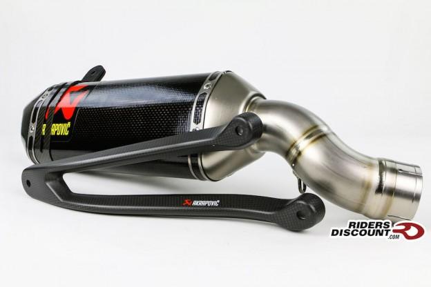 Akrapovic Slip-On Carbon Exhaust & Bracket: Kawasaki Ninja ZX-10R 2016