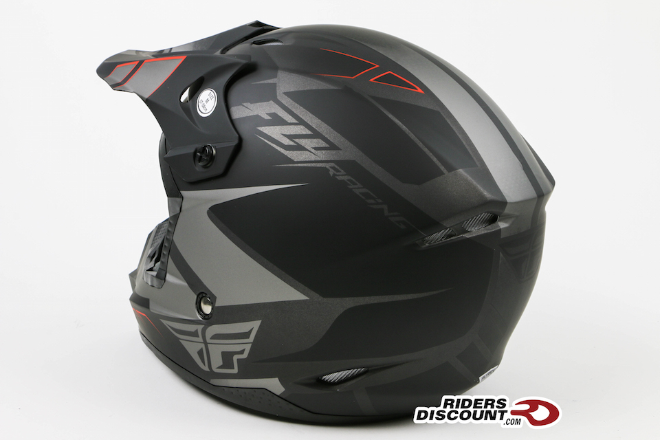 Fly Racing Kinetic Impulse Helmet Matte Black/Grey - Click Image For More Info