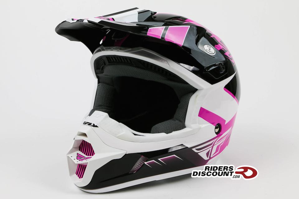 Fly Racing Kinetic Impulse Helmet Matte White/Black - Click Image For More Info