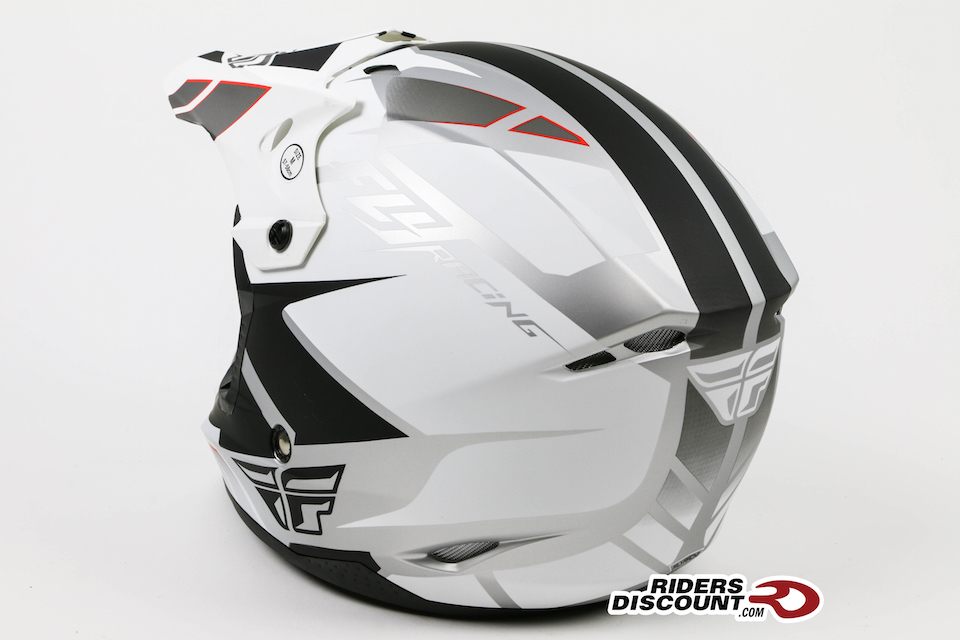 Fly Racing Kinetic Impulse Helmet Matte White/Black - Click Image For More Info