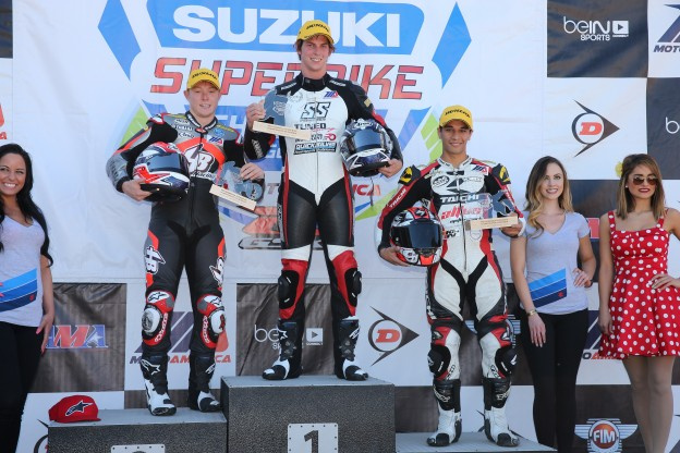 ?Bryce Prince places first in race one for the Superstock 600 class at Road Atlanta