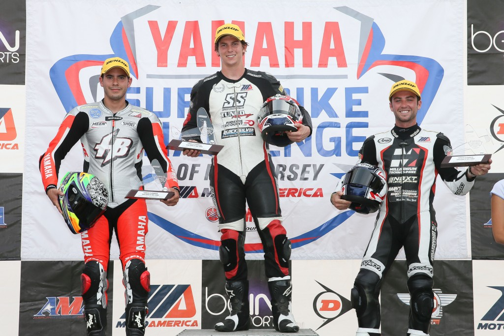 Bryce Prince takes first in race two at NJMP. Photo by Brian J. Nelson.