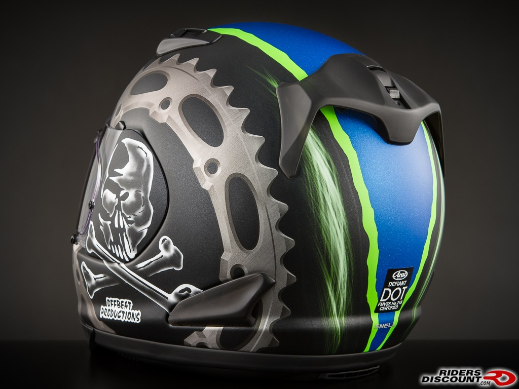 Arai Defiant Jolly Roger 2 Helmet - Click Image For More Information - MSRP $759.95