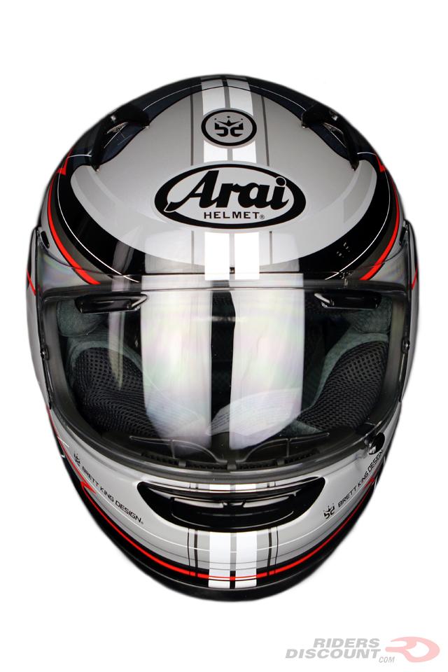 Arai Signet-Q Brett King Design Frequency Helmet - Click Image For More Information - MSRP $789.95