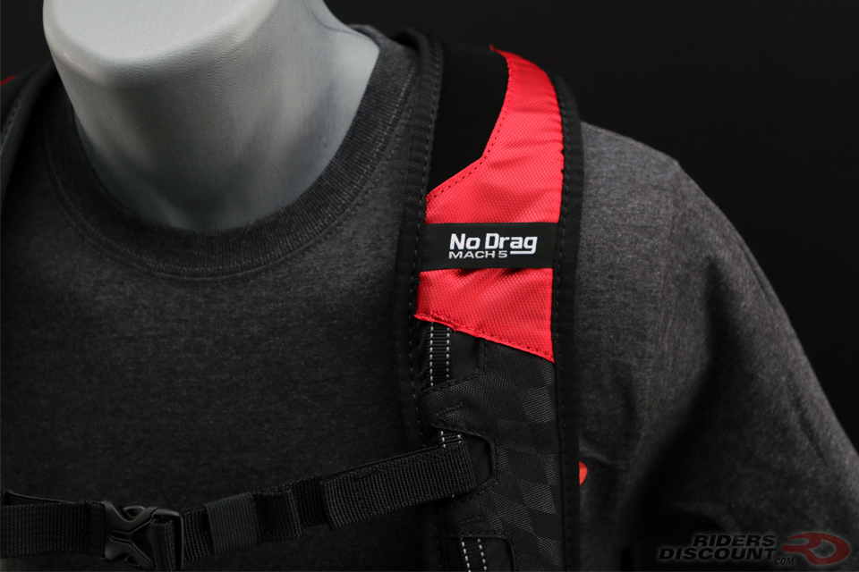 OGIO No Drag Mach 5 Backpack in Red
