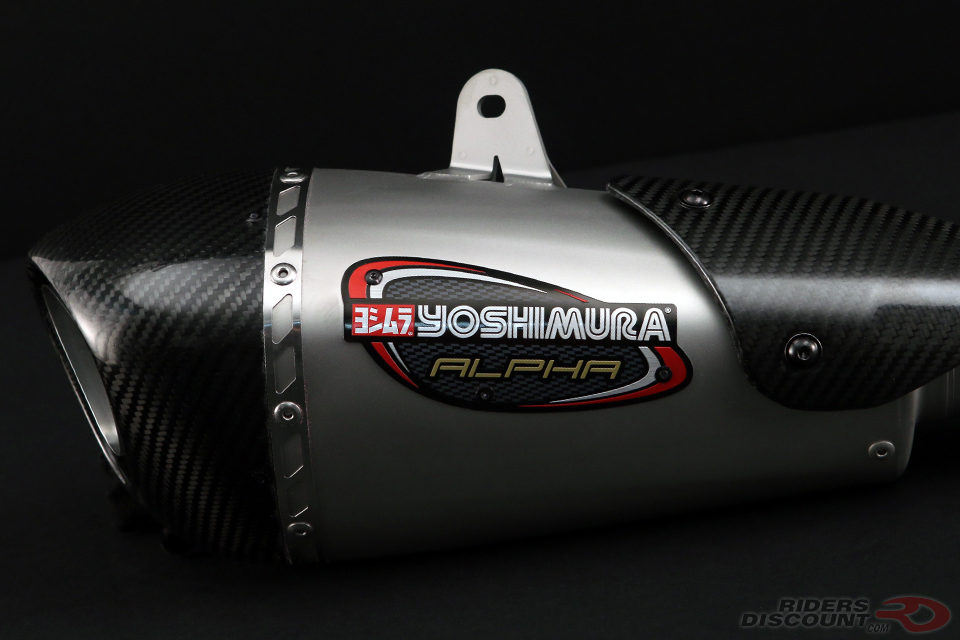 Yoshimura Alpha T Slip-On Exhaust 2013-17 Triumph Daytona 675/R
