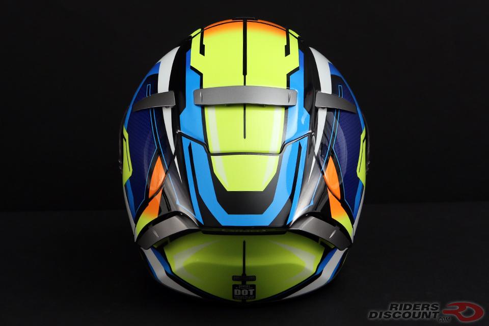 Shoei X-Fourteen Brink Helmet in Yellow/Blue
