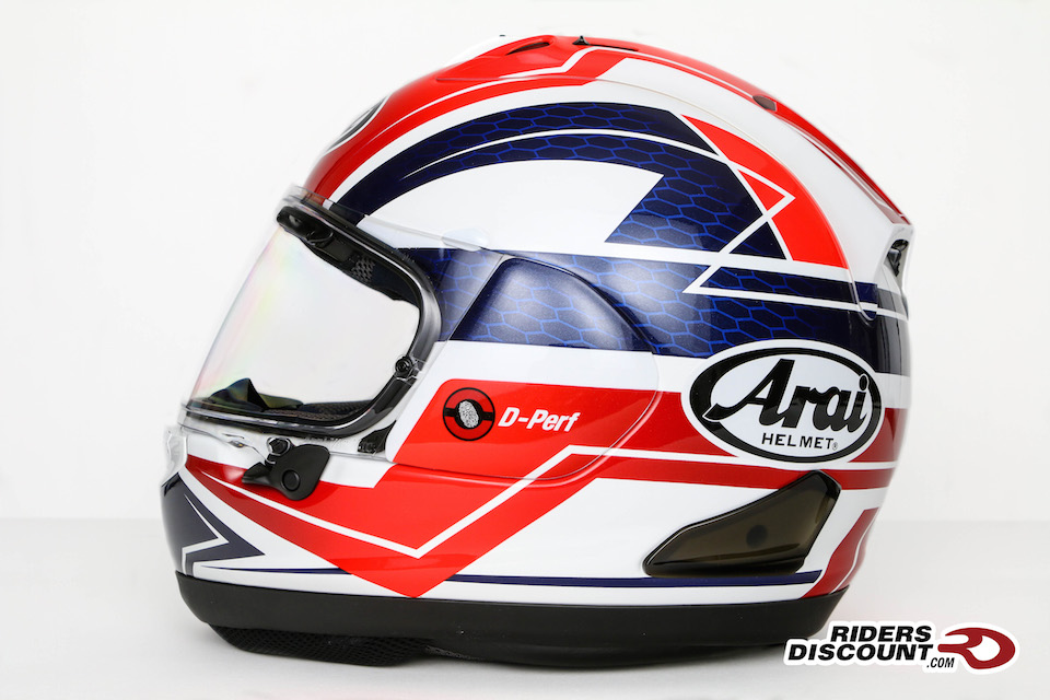 Arai Corsair-X Curve Helmet in Red - Arai Corsair-X Helmet Sale