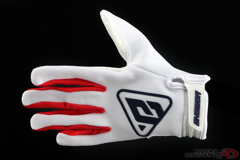 Answer Racing AR3 Gloves in White/Red