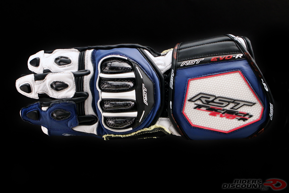 RST TracTech Evo R Glove In White/Blue