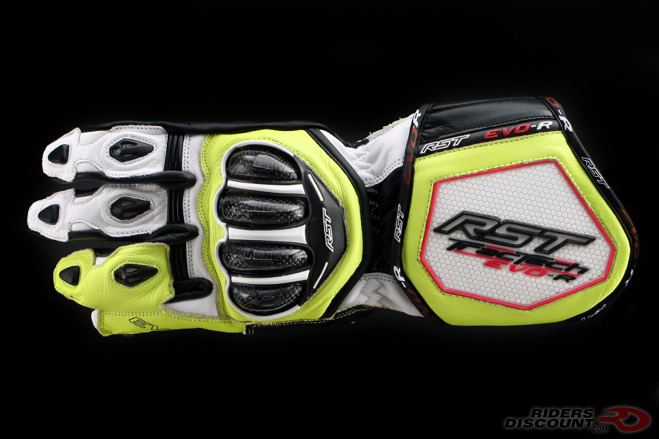 RST TracTech Evo R Glove In White/Fluorescent Yellow